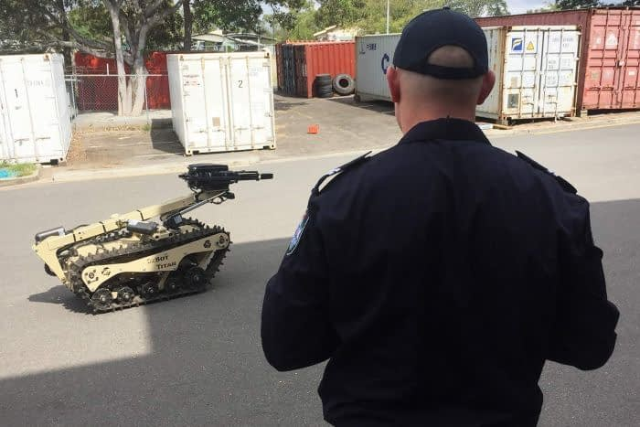 OzBot Titan robot -Queensland Police's latest initiative to protect officers