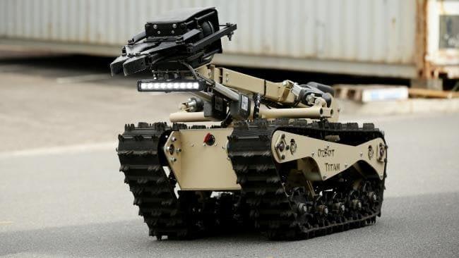 OzBot Titan protecting police